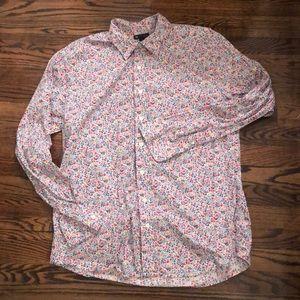 Gap, floral, dress shirt, XL slim fit